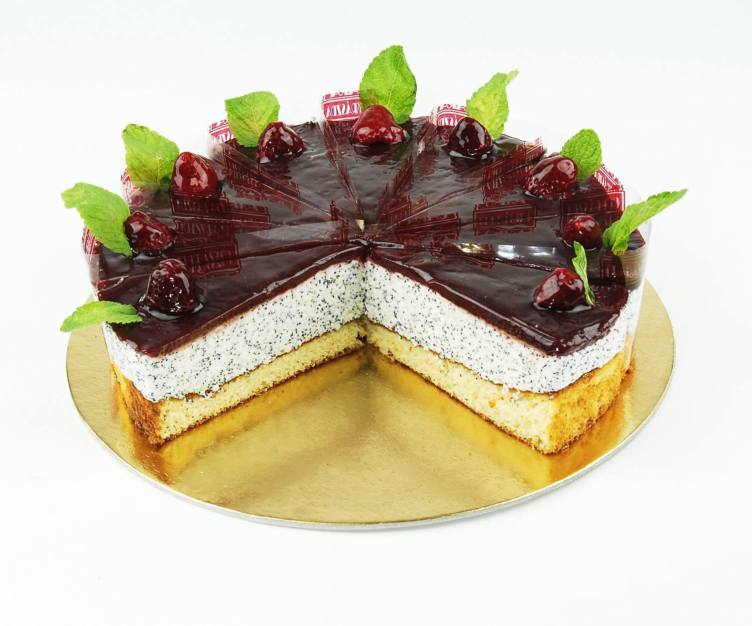 Málnás mák torta