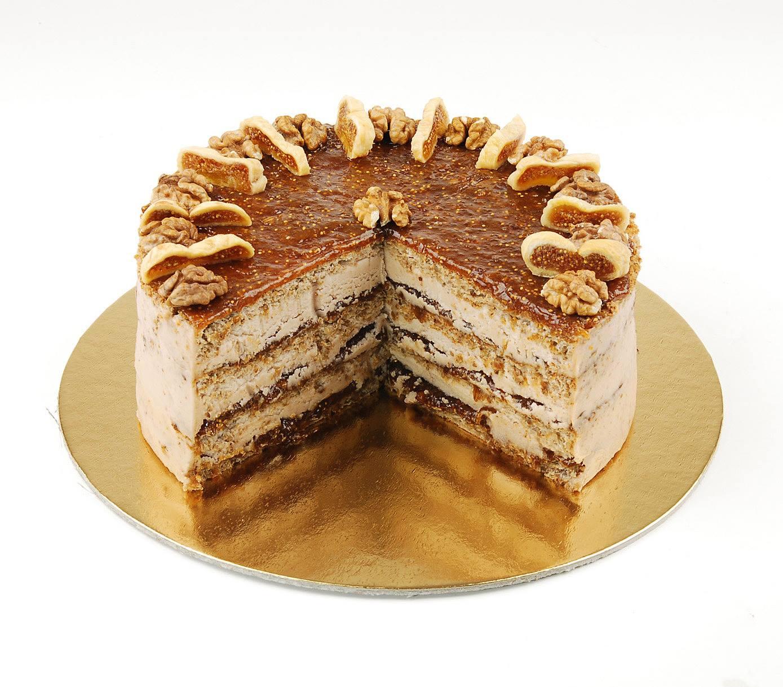 Paleo-fügés-diós-torta