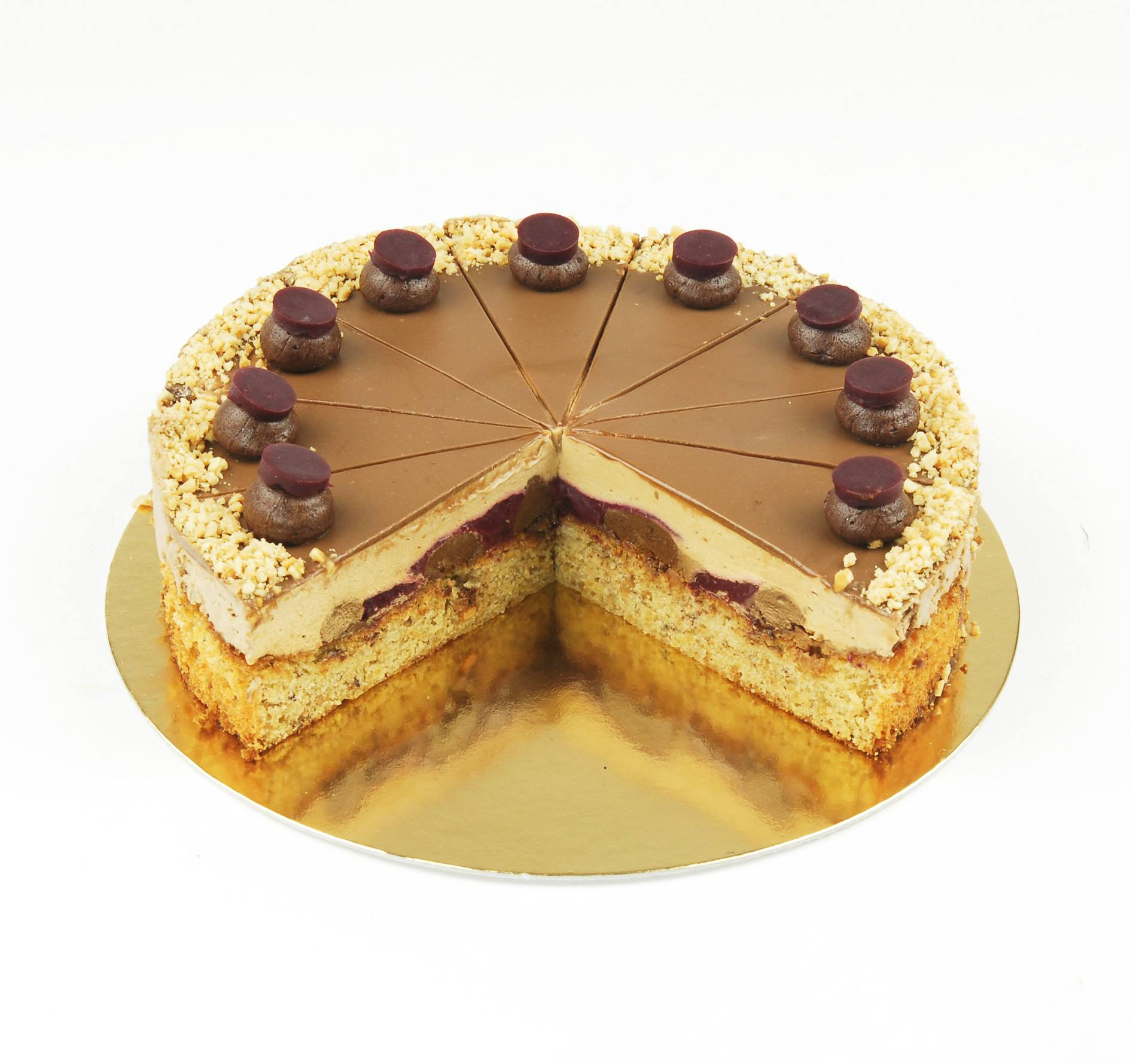 Balatoni habos mogyoró torta