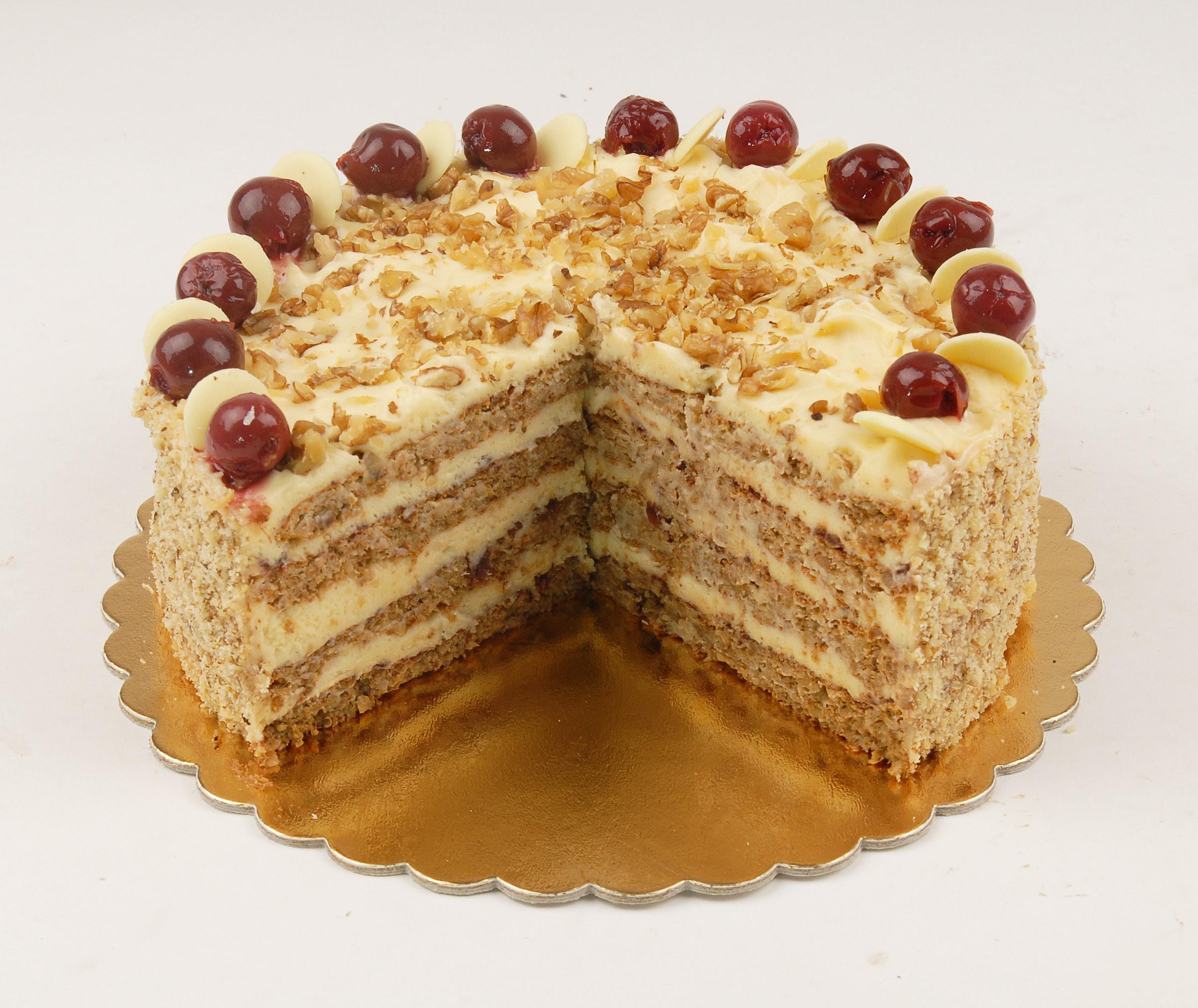Paleo meggyes-diós torta
