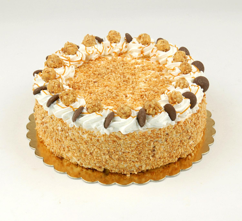 Roppanós-mogyorós-karamell-torta